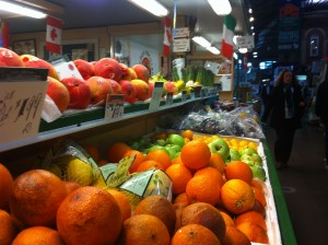 The amazing fresh produce at St. Lawrence Market, ripe for the picking.