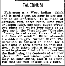 What is Falernum?